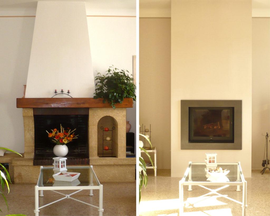 modernisation cheminée