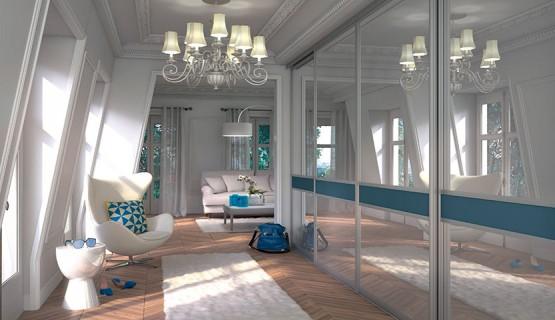 FACADE Bleu et Miroir